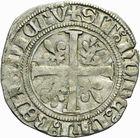 Photo numismatique  MONNAIES BARONNIALES Duché de BOURGOGNE JEAN SANS PEUR (1404-1419) Grand blanc ou guénar, 1er type, frappé peut être à Auxonne.