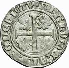 Photo numismatique  MONNAIES BARONNIALES Duché de BOURGOGNE JEAN SANS PEUR (1404-1419) Grand blanc ou guénar d'Auxonne, 3ème type.