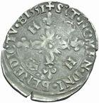 Photo numismatique  MONNAIES ROYALES FRANCAISES HENRI II (31 mars 1547-10 juillet 1559)  Douzain aux croissants de Dijon.