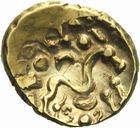 Photo numismatique  MONNAIES IBERIE- GAULE - CELTES AMBIANI (Bassin de la Somme)  Statère d'or aux deux S opposés.
