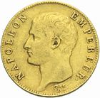 Photo numismatique  MONNAIES MODERNES FRANÇAISES NAPOLEON Ier, empereur (18 mai 1804- 6 avril 1814)  20 francs or, Paris an 13.