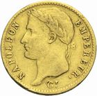 Photo numismatique  MONNAIES MODERNES FRANÇAISES NAPOLEON Ier, empereur (18 mai 1804- 6 avril 1814)  20 francs  or, Toulouse 1811.