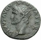 Photo numismatique MONNAIES EMPIRE ROMAIN TITUS César (69-79 Auguste (79-81) Dupondius de Rome, restitution d'Auguste.