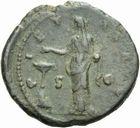 Photo numismatique  MONNAIES EMPIRE ROMAIN FAUSTINE mère (épouse d'Antonin +141)  As