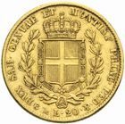 Photo numismatique  MONNAIES MONNAIES DU MONDE ITALIE SAVOIE-SARDAIGNE, Charles Albert (1831-1849) 20 lire or, Gênes 1842.