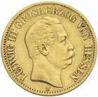 Photo numismatique  MONNAIES MONNAIES DU MONDE ALLEMAGNE HESSE, Kouis III (1848-1877) 10 Marks or, 1872.