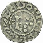 Photo numismatique  MONNAIES ROYALES FRANCAISES LOUIS VI (29 juillet 1108-1er août 1137)  Denier d'Etampes du 3ème type.