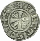 Photo numismatique  MONNAIES ROYALES FRANCAISES LOUIS VII (1er ao�t 1137-18 septembre 1180)  Denier de Senlis.