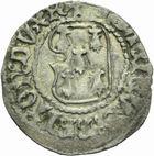 Photo numismatique  MONNAIES BARONNIALES Duché de BRETAGNE FRANCOIS Ier (1442-1450) Demi-blanc à la targe, Rennes.