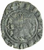Photo numismatique  MONNAIES BARONNIALES Evéché de DIE ANONYMES (XIII-XIVe siècle) Double denier ou tiers de carlin.