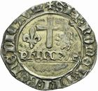 Photo numismatique  MONNAIES BARONNIALES Duché de BOURGOGNE PHILIPPE LE BON (1419-1467) Blanc aux écus de Chaussin.