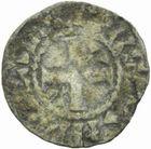 Photo numismatique  MONNAIES ROYALES FRANCAISES LOUIS VI (29 juillet 1108-1er août 1137)  Obole du 3ème type, Etampes.