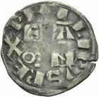 Photo numismatique  MONNAIES ROYALES FRANCAISES PHILIPPE II AUGUSTE (1180-1223)  Denier de Paris.