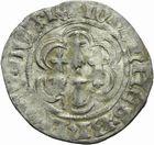 Photo numismatique  MONNAIES BARONNIALES Duché de BRETAGNE JEAN V (1399-1442) Blanc aux quatre mouchetures de Nantes.