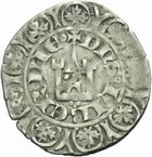 Photo numismatique  MONNAIES BARONNIALES Duché d'AQUITAINE EDOUARD II (1307-1327) Maille blanche du 2ème type.