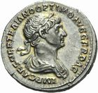 Photo numismatique  MONNAIES EMPIRE ROMAIN TRAJAN (98-117)  Denier de Rome, 114-117.