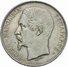 Photo numismatique  MONNAIES MODERNES FRANÇAISES LOUIS-NAPOLEON BONAPARTE Prince-Président (2 décembre 1851-2 décembre 1852)  5 francs 1852 Barre graveur.
