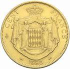 Photo numismatique  MONNAIES MONNAIES DU MONDE MONACO CHARLES III (1856-1889) 100 francs or, Paris 1886.