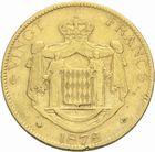 Photo numismatique  MONNAIES MONNAIES DU MONDE MONACO CHARLES III (1856-1889) 20 francs or, Paris 1878.