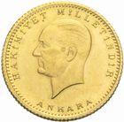 Photo numismatique  MONNAIES MONNAIES DU MONDE TURQUIE République (Depuis 1923) 50 piastres or, 1923/43.