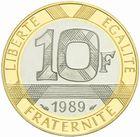 Photo numismatique  MONNAIES MODERNES FRANÇAISES 5ème RÉPUBLIQUE (Depuis le 4 octobre 1958)  10 francs or, 1989.