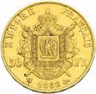 Photo numismatique  MONNAIES MODERNES FRANÇAISES NAPOLEON III, empereur (2 décembre 1852-1er septembre 1870)  50 francs or, 1868.