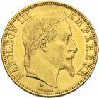 Photo numismatique  MONNAIES MODERNES FRANÇAISES NAPOLEON III, empereur (2 décembre 1852-1er septembre 1870)  50 francs or, 1866.