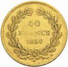 Photo numismatique  MONNAIES MODERNES FRANÇAISES LOUIS-PHILIPPE Ier (9 août 1830-24 février 1848)  40 francs or, 1834.