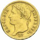 Photo numismatique  MONNAIES MODERNES FRANÇAISES NAPOLEON Ier, empereur (18 mai 1804- 6 avril 1814)  20 francs or, 1813.