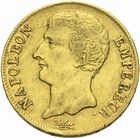 Photo numismatique  MONNAIES MODERNES FRANÇAISES NAPOLEON Ier, empereur (18 mai 1804- 6 avril 1814)  20 francs or, an 12.