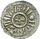 Photo numismatique  MONNAIES CAROLINGIENS LOTHAIRE Ier, empereur (817-855)  Denier de Pavie.