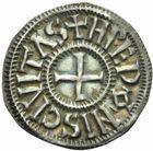 Photo numismatique  MONNAIES CAROLINGIENS CHARLES LE CHAUVE, roi (840-875)  Denier frappé à Rennes après 864.