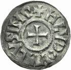 Photo numismatique  MONNAIES CAROLINGIENS LOUIS LE PIEUX, empereur (janvier 814-20 juin 840)  Denier frappé à Melle après 818.