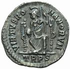 Photo numismatique  MONNAIES EMPIRE ROMAIN MAGNUS MAXIMUS (383-388)  Silique de Trèves, frappée entre 383 et 388.