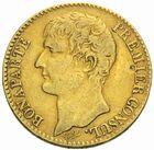 Photo numismatique  MONNAIES MODERNES FRANÇAISES LE CONSULAT (à partir du 24 décembre 1799-18 mai 1804)  40 francs or, Paris an 12.