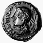 Photo numismatique  MONNAIES IBERIE- GAULE - CELTES CARNUTES (région de Chartres)  Bronze au nom de Pixtilos.