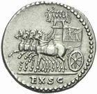 Photo numismatique  MONNAIES EMPIRE ROMAIN TITUS  César (69-79 Auguste (79-81)  Denier au nom de Vespasien, frappé à Rome en 80/81.