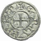 Photo numismatique  MONNAIES BARONNIALES Comté de POITIERS Immobilisation du type de Charles le Simple (vers 930-1100) Denier frappé à Melle.