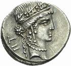 Photo numismatique  MONNAIES RÉPUBLIQUE ROMAINE JULES CESAR (100-44)  Denier frappé pour les 52 ans.
