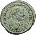 Photo numismatique  MONNAIES EMPIRE ROMAIN MAXIMIEN HERCULE (César 286-305 - Auguste 306-308, 310)  Follis frappé à Ticinum en 306.