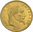 Photo numismatique  MONNAIES MODERNES FRANÇAISES NAPOLEON III, empereur (2 décembre 1852-1er septembre 1870)  50 francs or frappée à Paris en 1866.