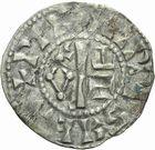 Photo numismatique  MONNAIES ROYALES FRANCAISES PHILIPPE Ier (4 août 1060-29 juillet 1108)  Denier du 3ème type, frappé à Château-Landon.