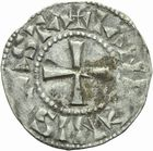 Photo numismatique  MONNAIES ROYALES FRANCAISES PHILIPPE I (1060-1108)  Denier du 3�me type, frapp� � Ch�teau-Landon.