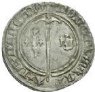 Photo numismatique  MONNAIES BARONNIALES Duché de LORRAINE RENE Ier (1419-1480) Demi gros de Nancy.