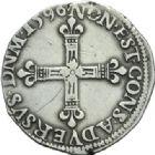 Photo numismatique  MONNAIES BARONNIALES Principauté de SEDAN HENRI de la Tour d'Auvergne (1594-1623) Quart d'écu 1596.
