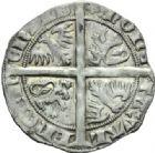 Photo numismatique  MONNAIES BARONNIALES Comté de HAINAUT MARGUERITE II d'Avesnes (1345-1356) Gros vaillant frappé à Valenciennes.