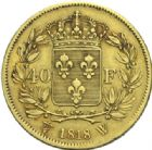 Photo numismatique  MONNAIES MODERNES FRANÇAISES LOUIS XVIII, 2e restauration (8 juillet 1815-16 septembre 1824)  40 francs o,r 1818.