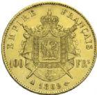 Photo numismatique  MONNAIES MODERNES FRANÇAISES NAPOLEON III, empereur (2 décembre 1852-1er septembre 1870)  100 francs or, 1869.