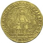 Photo numismatique  ARCHIVES VENTE 2012 DERNIÈRE MINUTE FLANDRE. LOUIS DE MAELE (1346-1384)  868- Chaise d'or.