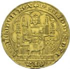 Photo numismatique  ARCHIVES VENTE 2012 DERNIERE MINUTE FRANCE. Philippe VI de Valois (1328-1350)  867- Ecu d'or à la chaise, 1ère émission du 1er janvier 1337.